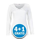 Beeren Beatrix Dames Shirt Lange Mouw Wit  Voordeelpakket_