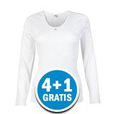 Beeren Dames M3000 Shirt Lange Mouw Wit  Voordeelpakket_