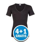 Beeren M3000 Heren T-shirt Diepe V-hals Zwart  Voordeelpakket_