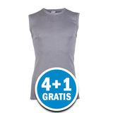 Beeren Heren Mouwloos Shirt M3000 Grijs  Voordeelpakket_