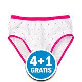 Beeren Meisjes Slip Stip Wit  Voordeelpakket_