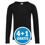 Beeren Thermokids Shirt Lange Mouw Zwart  Voordeelpakket_