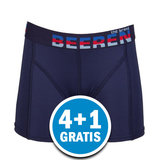 Beeren Jongens Elegance Boxershort Donkerblauw Voordeelpakket_