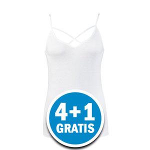 Beeren Dames Top Annabel Wit  Voordeelpakket