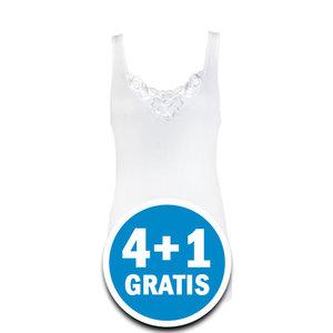 Beeren Dames Hemd Viola Wit  Voordeelpakket