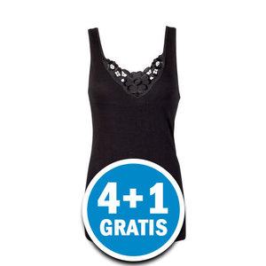 Beeren Dames Hemd Viola Zwart  Voordeelpakket