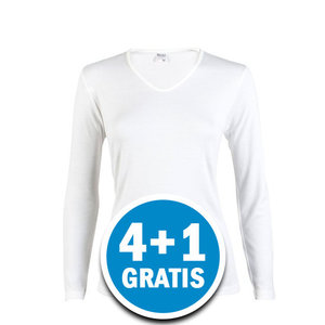 Beeren Thermo Dames Shirt Lange Mouw Wolwit  Voordeelpakket