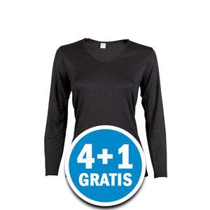 Beeren Thermo Dames Shirt Lange Mouw Zwart  Voordeelpakket