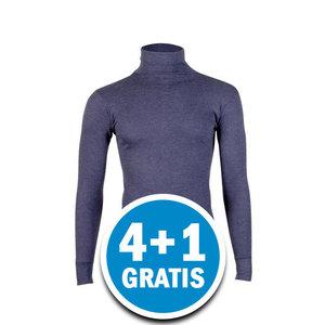 Beeren Unisex Thermo Colshirt Lange Mouw Donkerblauw Voordeelpakket