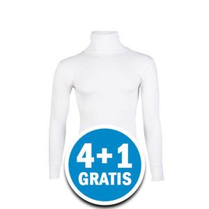 Beeren Thermo Unisex Colshirt Lange Mouw Wolwit Voordeelpakket