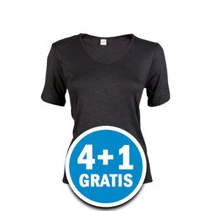 Beeren Thermo Dames T-shirt Zwart  Voordeelpakket