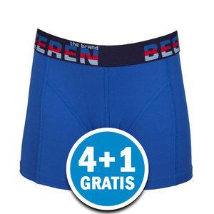 Beeren Heren  Elegance Boxershort Blauw Voordeelpakket