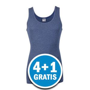 Beeren Heren M55 Hemd Denim blauw Voordeelpakket