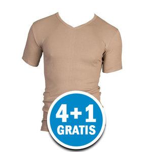 Beeren Heren T-shirt V-hals M3000 Huid  Voordeelpakket
