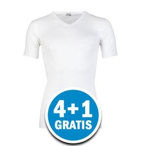 Beeren Heren T-shirt V-hals M3000 Wit Voordeelpakket