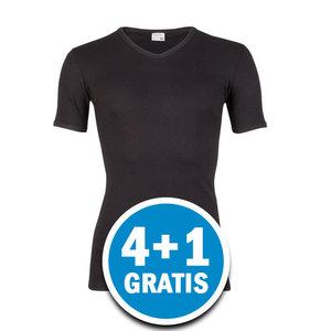 Beeren Heren T-shirt V-hals M3000 Zwart Voordeelpakket