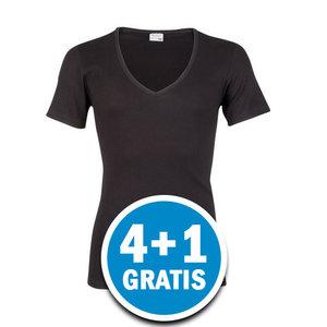Beeren M3000 Heren T-shirt Diepe V-hals Zwart  Voordeelpakket