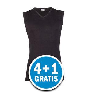 Beeren Heren Mouwloos Shirt V-hals Zwart Voordeelpakket