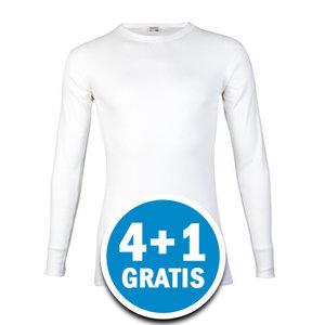 Beeren M3000 Heren Shirt Lange Mouw Wit Voordeelpakket