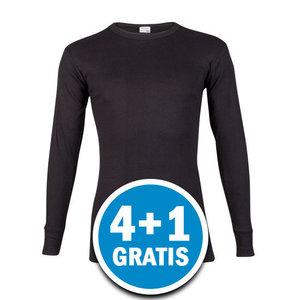 Beeren M3000 Heren Shirt Lange Mouw Zwart  Voordeelpakket