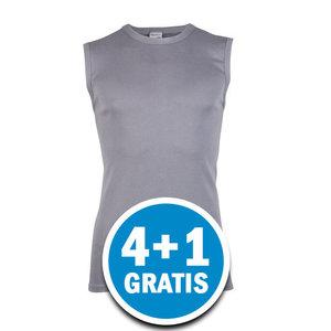 Beeren Heren Mouwloos Shirt M3000 Grijs  Voordeelpakket