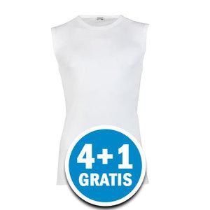 Beeren Heren Mouwloos Shirt M3000 Wit  Voordeelpakket