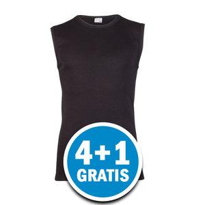 Beeren Heren Mouwloos Shirt M3000 Zwart  Voordeelpakket