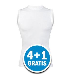 Beeren Young Heren Mouwloos Shirt Wit  Voordeelpakket