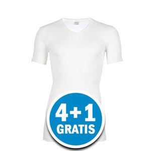 Beeren Heren M3000 V-hals T-shirt Extra Lang Wit Voordeelpakket