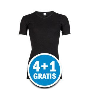 Beeren Heren M3000 V-hals T-shirt Extra Lang Zwart Voordeelpakket