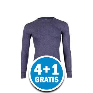 Beeren Heren Thermo Shirt Lange Mouw Donkerblauw Voordeelpakket