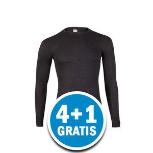 Beeren Heren Thermo Shirt Lange Mouw Zwart Voordeelpakket