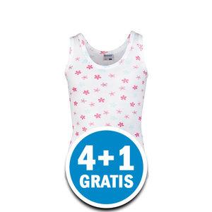 Beeren Meisjes Hemd Liesje Wit  Voordeelpakket