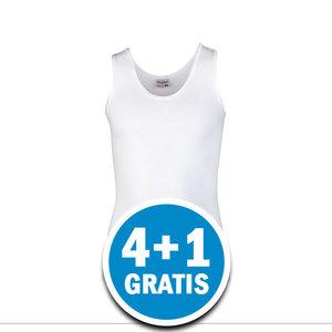 Beeren Meisjes Comfort Feeling Hemd Brede Bandjes Wit Voordeelpakket