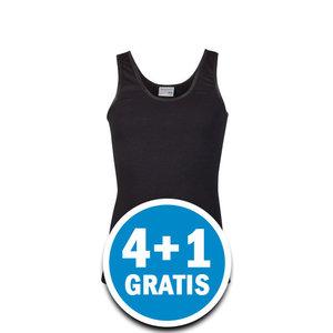 Beeren Meisjes Comfort Feeling Hemd Zwart Brede Bandjes Voordeelpakket