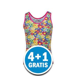 Beeren Meisjes Hemd Print Bloemetjes Gekleurd Voordeelpakket