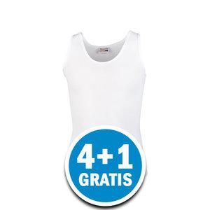 Beeren Young Meisjes Hemd Wit Brede Bandjes Voordeelpakket