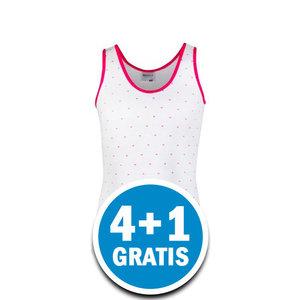 Beeren Meisjes Hemd Stip Wit  Voordeelpakket