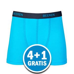 Beeren Jongens Boxershort Davy Lichtblauw  Voordeelpakket