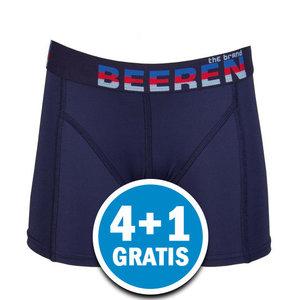 Beeren Jongens Elegance Boxershort Donkerblauw Voordeelpakket