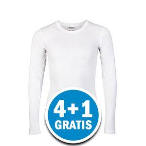 Beeren Jongens M3000 Shirt Lange Mouw Wit Voordeelpakket