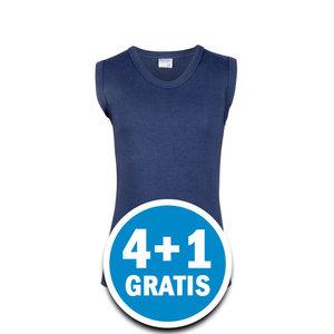 Beeren Jongens Comfort Feeling Mouwloos Shirt Donkerblauw Voordeelpakket