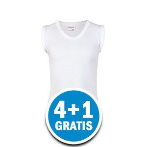 Beeren Jongens Comfort Feeling Mouwloos Shirt Wit Voordeelpakket