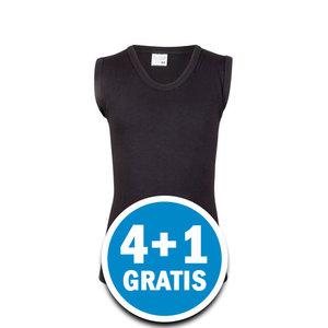 Beeren Jongens Comfort Feeling Mouwloos Shirt Zwart Voordeelpakket