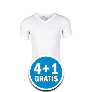 Beeren Jongens M3000 T-shirt V-hals Wit Voordeelpakket