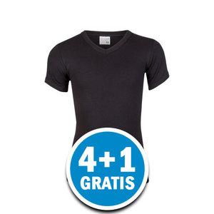 Beeren Jongens M3000 T-shirt V-hals Zwart Voordeelpakket