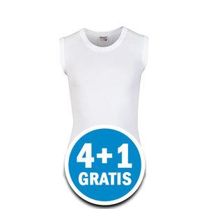 Beeren Young Jongens Mouwloos Shirt Wit Voordeelpakket