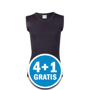 Beeren Young Jongens Mouwloos Shirt Zwart  Voordeelpakket